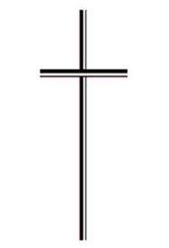 Kreuz für die Verwendung in Trauerschreiben