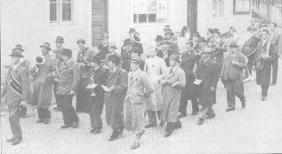 1. Mai 1947 der Musikverein auf dem Stadtplatz in Steyr